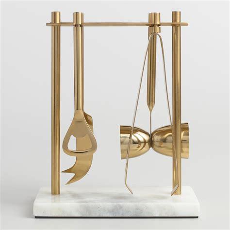 gold bar tools marble and gold bar tool set world market 1255
