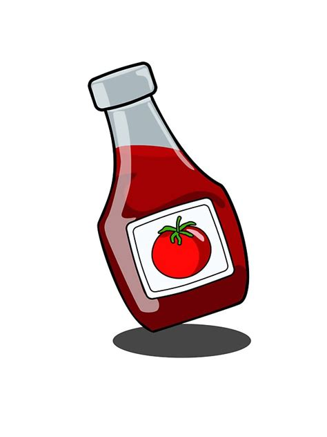 quot cartoon ketchup bottle quot stickers by mdkgraphics redbubble