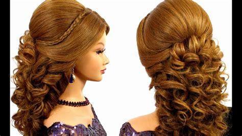 Romantic Bridal Prom Hairstyle For Long Hair Tutorial