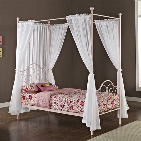metal canopy bed white with curtains how to make canopy bed in princess theme midcityeast