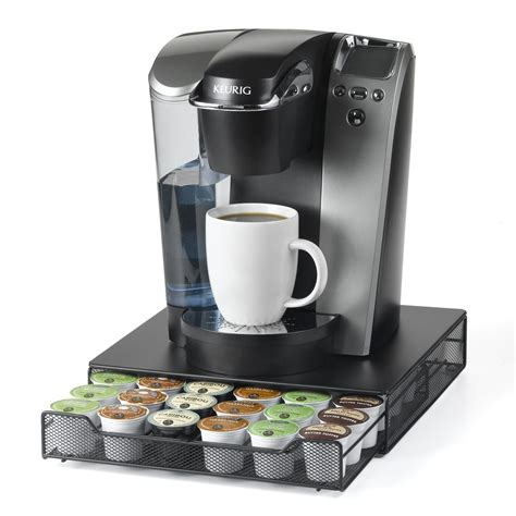 Discover a selection of coffee accessories (barista tools, double wall glasses), tea accessories (mugs, cups, spoons), insulated flasks, lunchboxes and many more. Nifty Home 24 K-Cup Drawer - Coffee Accessories at Hayneedle