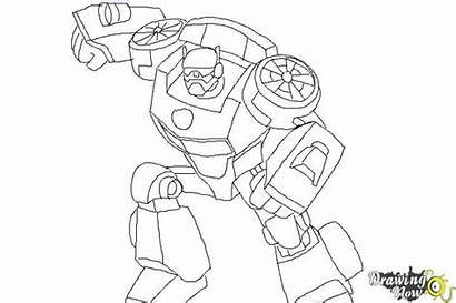 Bots Rescue Transformers Coloring Chase Draw Template