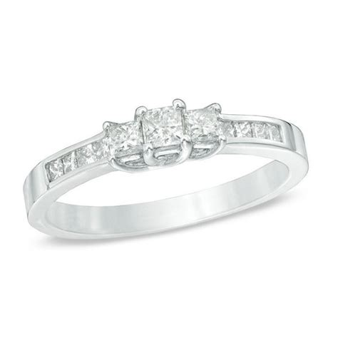 ct tw princess cut diamond  stone engagement