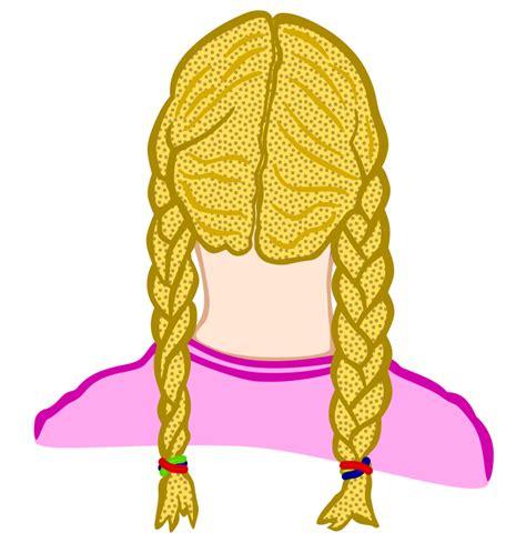 braid hair clip clipart braids coloured