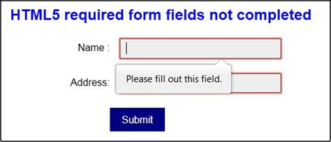 accessible forms 2 required fields and information