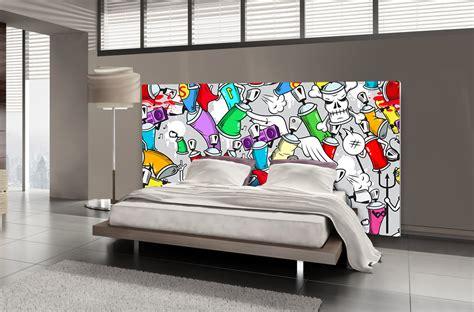 Tête De Lit Tag Bombe De Peinture Textilvision