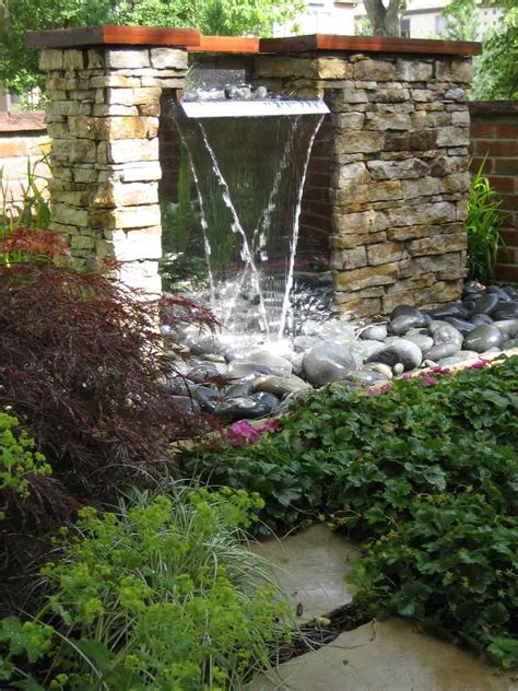 waterfall feature water features by stonegate gardens of denver colorado