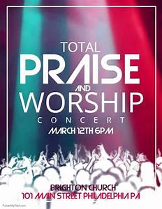 worship schedule template - praise and worship template postermywall