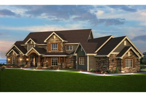 bedroom house plan luxury transitional style  sq ft