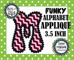 on sale funky alphabet applique designs embroidery pattern With applique letters for sale