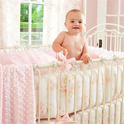 shabby chic baby bedding for shabby chenille crib bedding pink floral baby girl crib bedding carousel designs