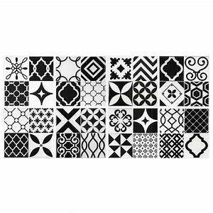 Smart Tiles Vintage Bilbao 9 in W x 9 in H Black and