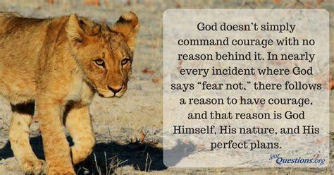 bible   courage gotquestionsorg