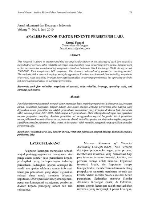 Kritik jurnal ilmiah (zainal fanani)