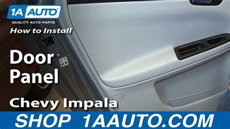 install remove rear  door panel   chevy