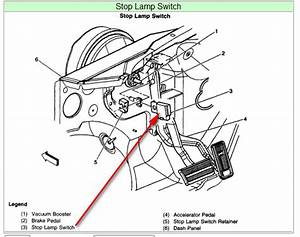 Where Is The Parking Brake Switch Located On A 2003 Chevy 3500 Silverado