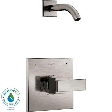delta ara single faucet delta dryden 1 handle h2okinetic shower only faucet trim