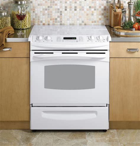 ge slide in gas range reviews ge profile 30 quot slide in electric range ps968tpww ge