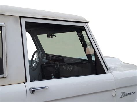 piece side glass   early bronco ford bronco