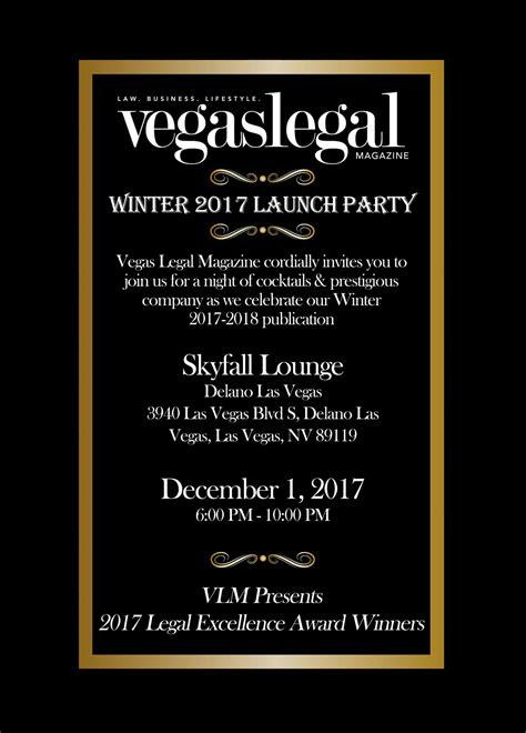 Winter '17 '18 Launch Party Invitation Vegas Legal Magazine