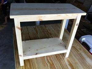 The quaint cottage diy simple end table for small spaces for Side table diy