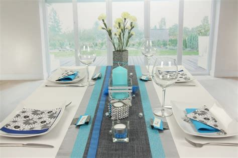 Tischdeko Grün Blau by Tischdeko Blau Silber Tischdekoration 360 176 Ansicht