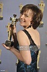 Actress Martha Burns poses with her award at the 30th ...