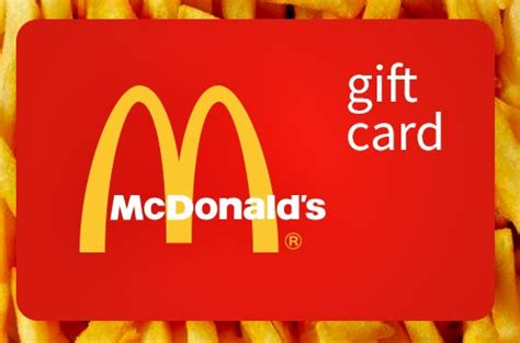mcdonalds gift card reload   work photo  gift