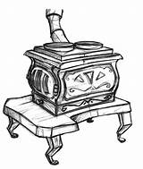 Clipart Loon Wood Franklin Stove Drawings Furnace Clip Cliparts Concept Library Fable 1352 1600 sketch template