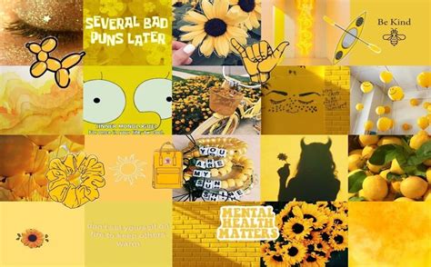 yellow aesthetic collage wallpapers wallpaper cave