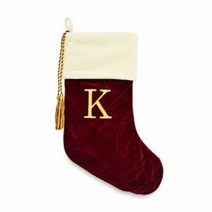 buy monogrammed christmas stockings from bed bath beyond With monogram letter christmas stocking