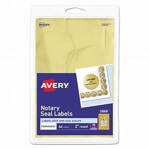 printable gold foil seals by averyr ave05868 With foil label maker
