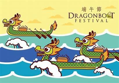 Dragon Boat Vector Illustration Festival Fun Clipart