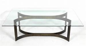 mid century modern solid bronze coffee table base at 1stdibs With mid century modern coffee table base