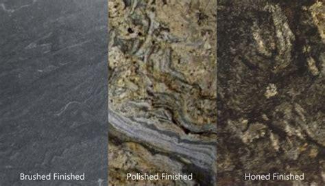 Polished, Honed or Brushed Finish on Granite?