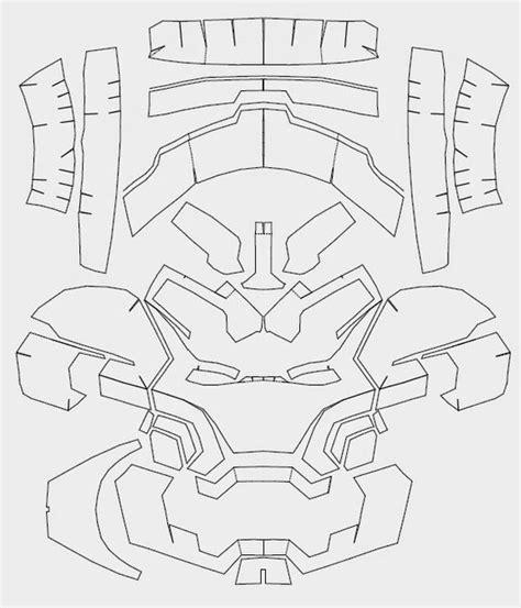 iron mask template iron 42 costume helmet diy cardboard build with template cnc dali