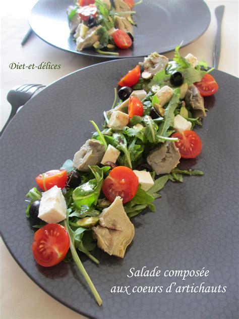salade composee aux coeurs dartichauts diet delices