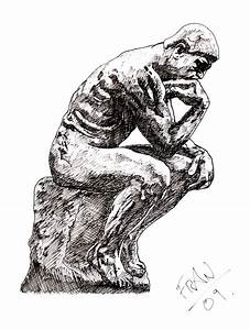 How to draw the thinker