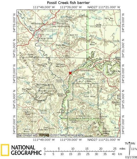az bureau fossil creek az map my