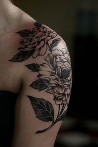 30+ Amazing Shoulders Peony Tattoos