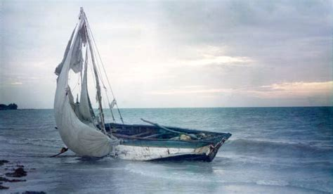 Refugee Boat Lands On Spanish Beach by Florida Memory Haitian Refugee Boat On The Beach At The