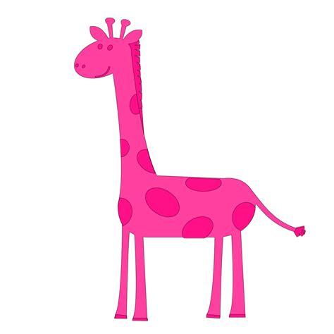 Pink Giraffe Clip Art