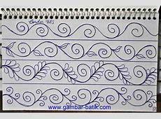 Sketsa Batik Bunga Sederhana Tattoo Art