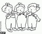 Nellie Annie Coloring Tessa Triplets Pages Cartoon Miscellaneous Characters Oncoloring sketch template