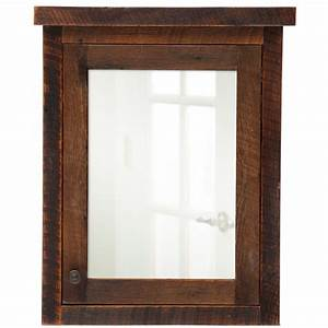 Barnwood right hinged medium medicine cabinet from for Barnwood medicine cabinet