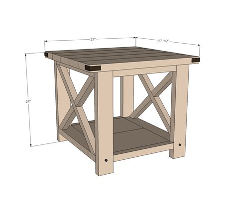 diy sofa table plans ana white build a rustic x end table free and easy diy