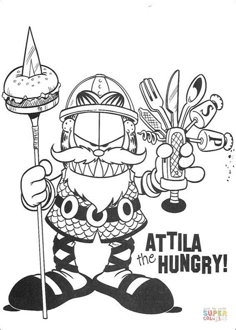 attila  hungry coloring page  printable coloring