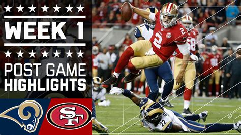 rams  ers nfl week  game highlights youtube