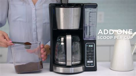Our removable water reservoir allows for easy filling. How to Brew in Small Batches with the Ninja® 12-Cup Programmable Coffee Brewer (CE200 Series ...