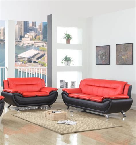 brenda red black sofa love  red black living room sets price busters furniture